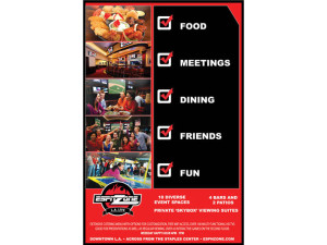 Back of card design for ESPN Sports zone print promotion card