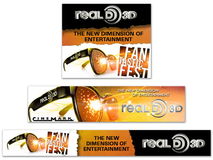 Real D self promotion digital ad units