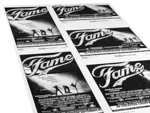 Fame National Newspaper Campaign: Print Production